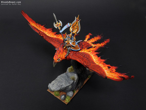 Flamespyre Phoenix With Anointed of Asuryan painted by Rafal Maj (BloodyBeast.com)