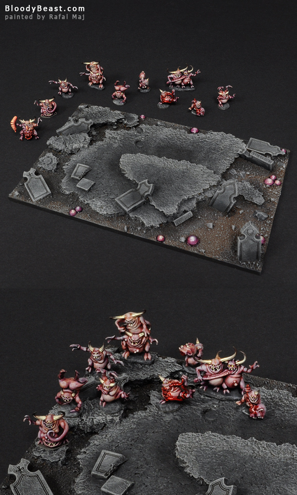 Glottkin Base with Wound Counters painted by Rafal Maj (BloodyBeast.com)