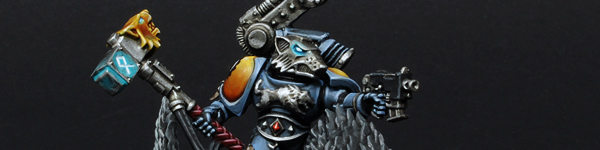 Space Wolves Iron Priest On Thunderwolf