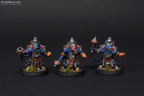 Tactical Arcanist Corps Front painted by Rafal Maj (BloodyBeast.com)