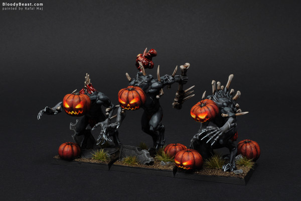 Crypt Horror Pumpkinheads painted by Rafal Maj (BloodyBeast.com)