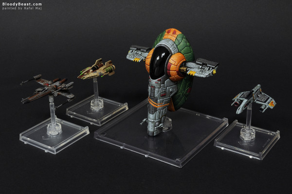 X-Wing Starships painted by Rafal Maj (BloodyBeast.com)