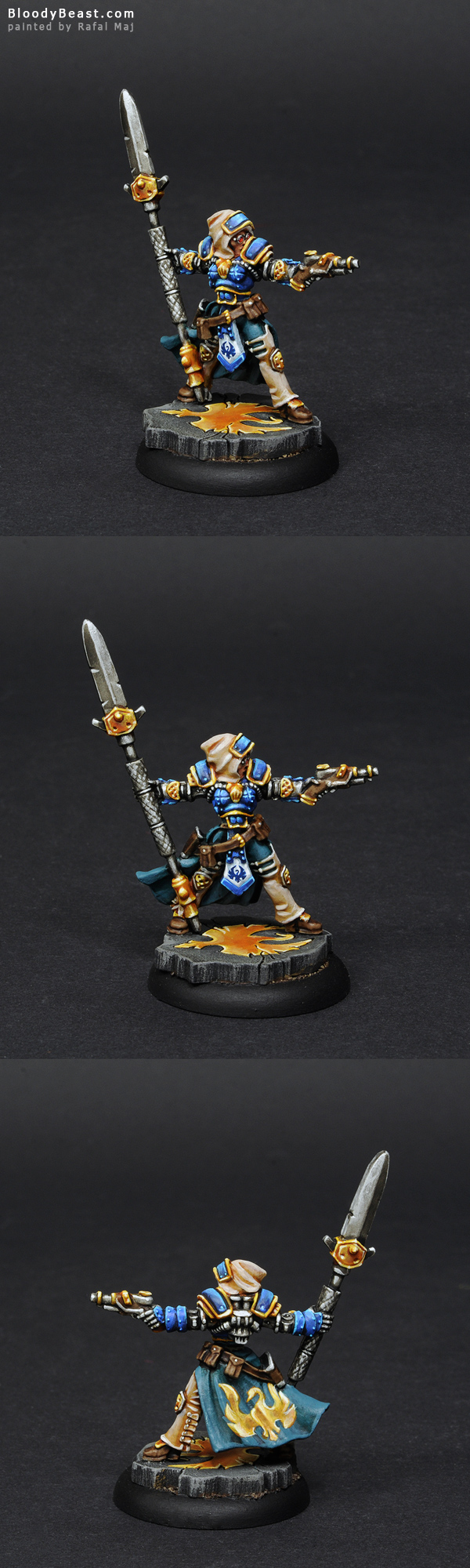 Captain Victoria Haley painted by Rafal Maj (BloodyBeast.com)