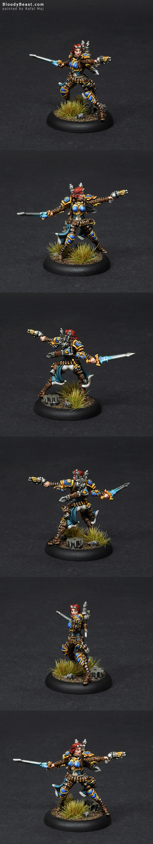 Cygnar Lieutenant Allison Jakes painted by Rafal Maj (BloodyBeast.com)
