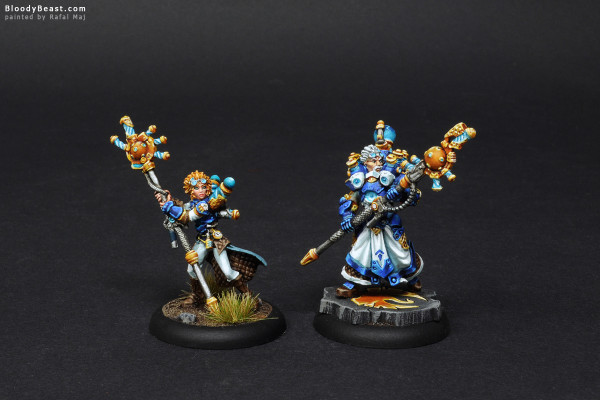Artificer General Nemo & Storm Chaser Adept Caitlin Finch painted by Rafal Maj (BloodyBeast.com)