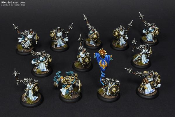 Cygnar Precursor Knights painted by Rafal Maj (BloodyBeast.com)