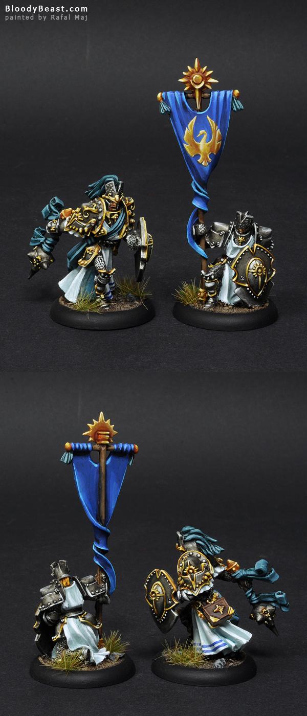 Cygnar Precursor Knights Command painted by Rafal Maj (BloodyBeast.com)