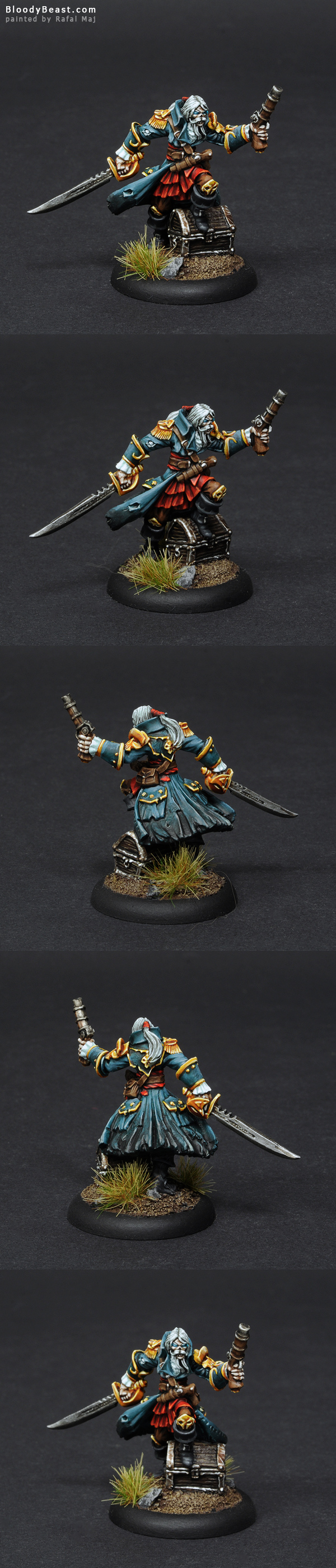 Captain Razig, Undead Pirate painted by Rafal Maj (BloodyBeast.com)