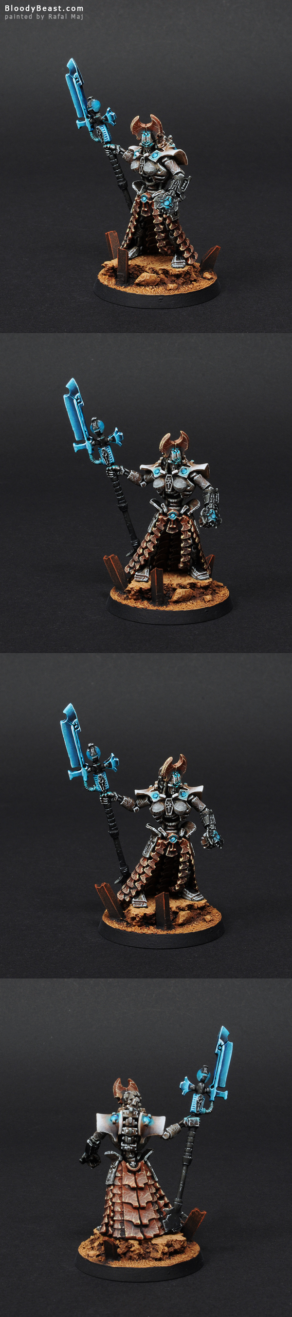 Female Necron Anrakyr The Traveller painted by Rafal Maj (BloodyBeast.com)