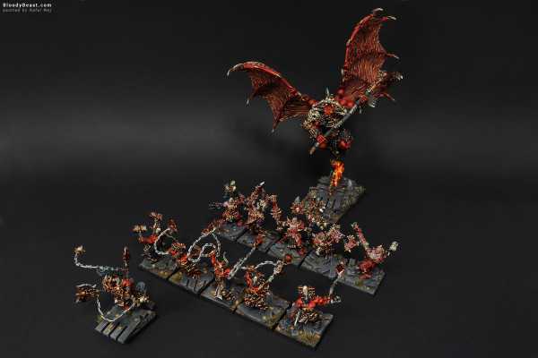 Khorne Army painted by Rafal Maj (BloodyBeast.com)