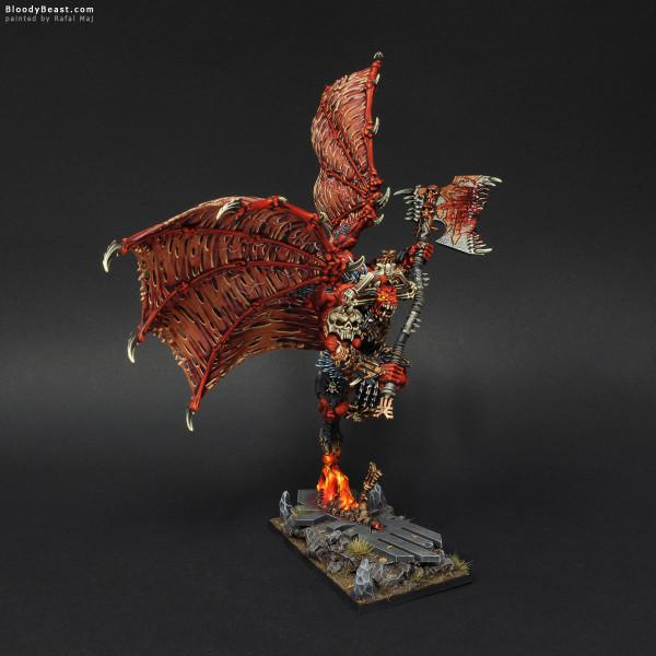 Khorne Bloodthirster of Insensate Rage painted by Rafal Maj (BloodyBeast.com)