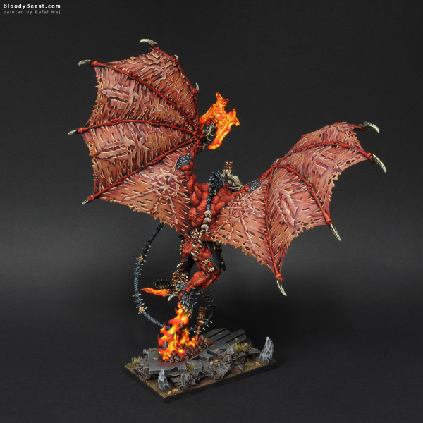 The Wrath of Khorne Bloodthirster painted by Rafal Maj (BloodyBeast.com)