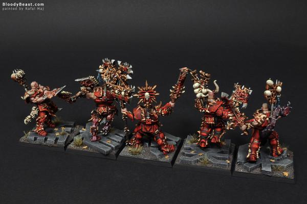 Khorne Skullreapers painted by Rafal Maj (BloodyBeast.com)