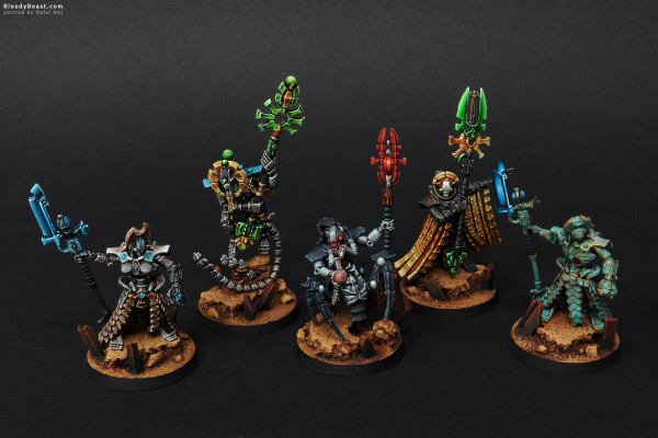 Necron Lords painted by Rafal Maj (BloodyBeast.com)
