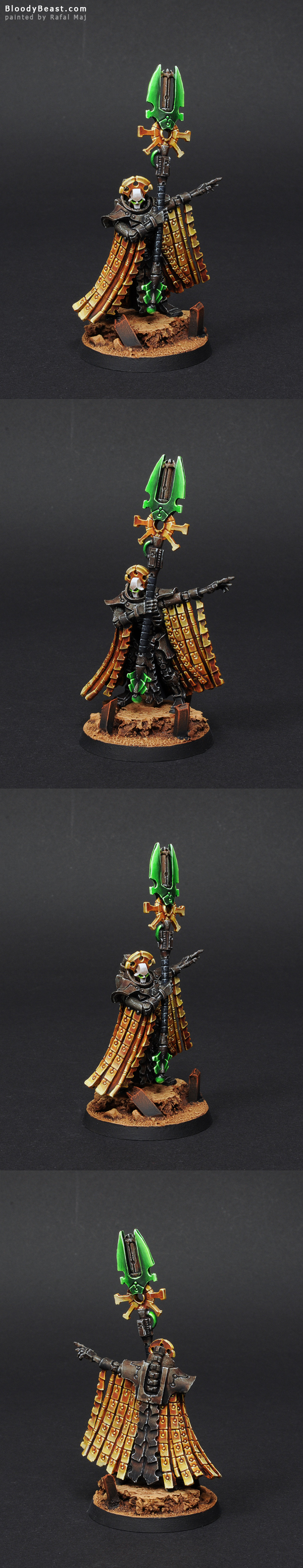 Necron Nemesor Zahndrekh painted by Rafal Maj (BloodyBeast.com)