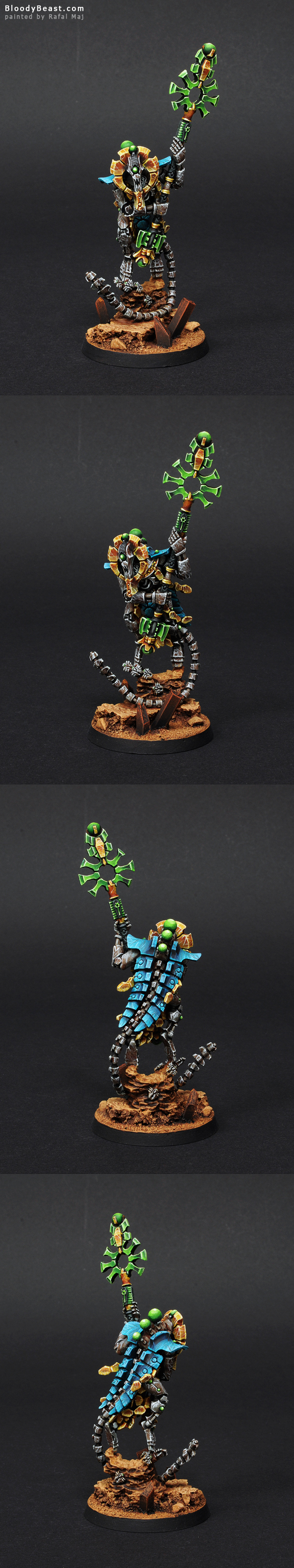 Necron Orikan The Diviner painted by Rafal Maj (BloodyBeast.com)