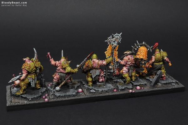 Putrid Blightkings painted by Rafal Maj (BloodyBeast.com)