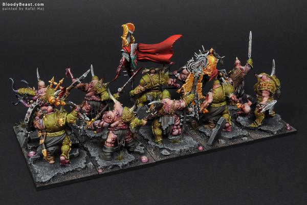 Putrid Blightkings Regiment painted by Rafal Maj (BloodyBeast.com)