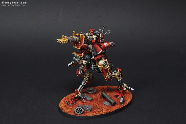Adeptus Mechanicus Ironstrider Ballistarius & Sydonian Dragoon painted by Rafal Maj (BloodyBeast.com)