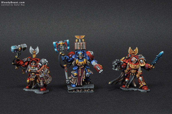 Space Hulk Blood Angels Terminators painted by Rafal Maj (BloodyBeast.com)