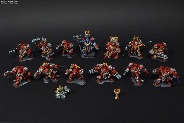 Space Hulk Blood Angels Terminators painted by Rafal Maj (BloodyBeast.com)