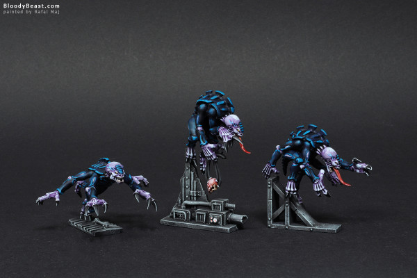 Space Hulk Tyranid Genestealers painted by Rafal Maj (BloodyBeast.com)