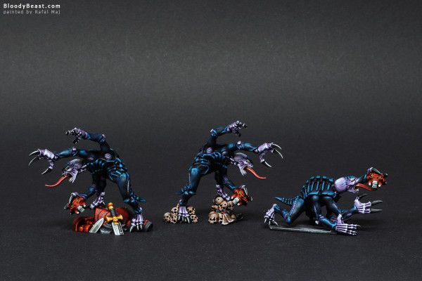 Space Hulk Tyranid Genestealers painted by Rafal Maj (BloodyBeast.com)