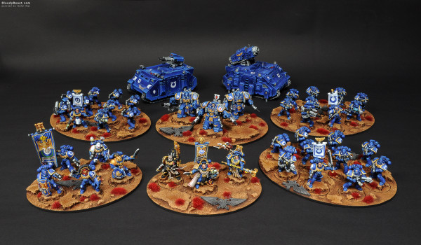Space Marines Ultramarines Army painted by Rafal Maj (BloodyBeast.com)