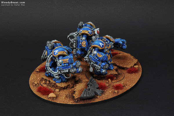 Space Marines Ultramarines Centurion Devastator Squad painted by Rafal Maj (BloodyBeast.com)