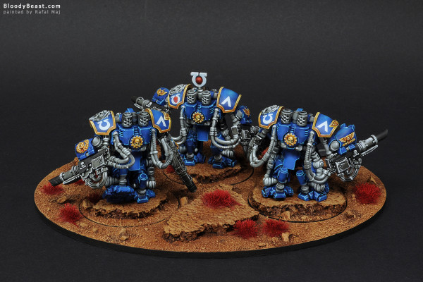 Space Marines Ultramarines Centurion Devastator Squad painted by Rafal Maj (BloodyBeast.com)