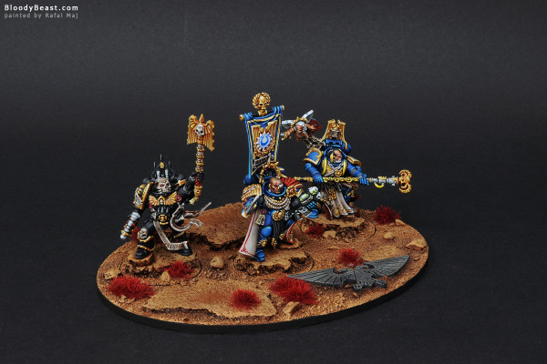 Space Marines Ultramarines Commanders painted by Rafal Maj (BloodyBeast.com)