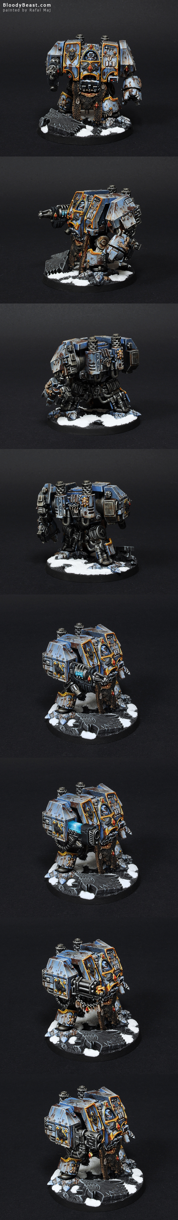 Space Wolves Dreadnought painted by Rafal Maj (BloodyBeast.com)