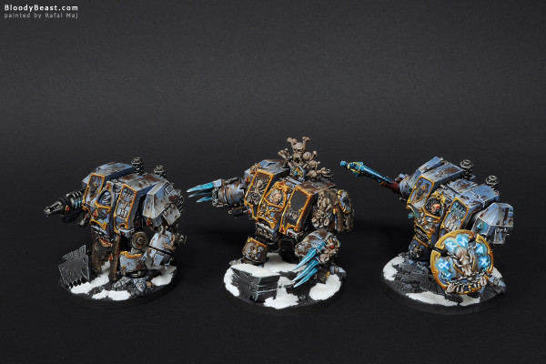 Space Wolves Dreadnoughts painted by Rafal Maj (BloodyBeast.com)