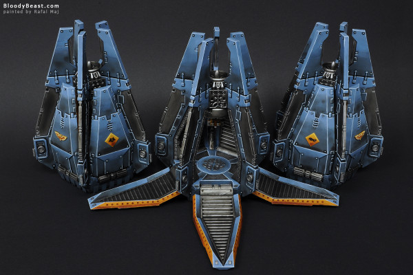 Space Wolves Drop Pods painted by Rafal Maj (BloodyBeast.com)