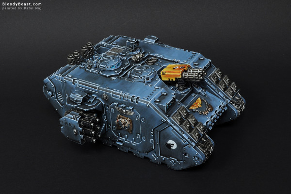 Space Wolves Landrider painted by Rafal Maj (BloodyBeast.com)