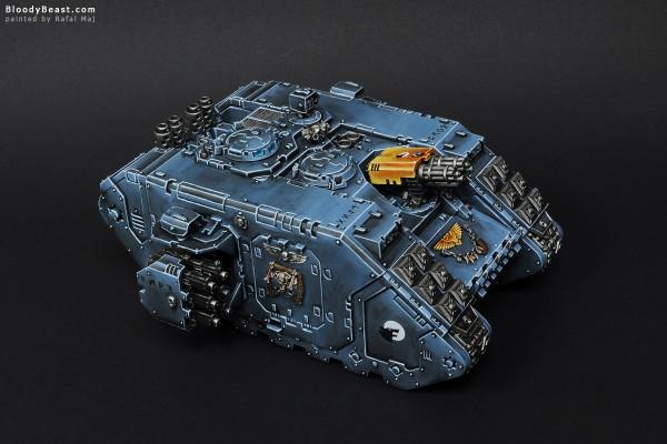 Space Wolves Landrider painted by Rafal Maj (BloodyBeast.com)