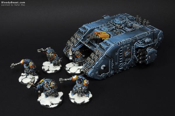 Space Wolves Landrider Transporting Terminators painted by Rafal Maj (BloodyBeast.com)