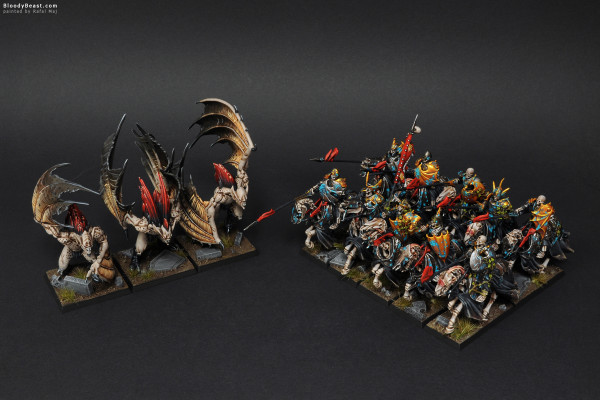 Vampire Counts Black Knights & Vargheists painted by Rafal Maj (BloodyBeast.com)