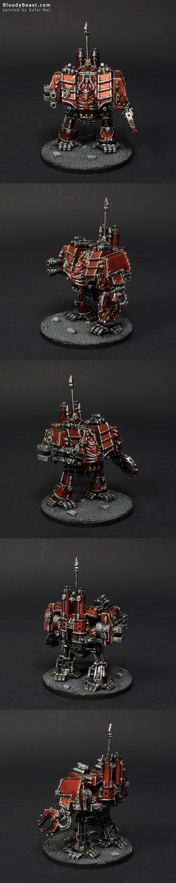 Skulltakers Chaos Space Marines Dreadnought painted by Rafal Maj (BloodyBeast.com)
