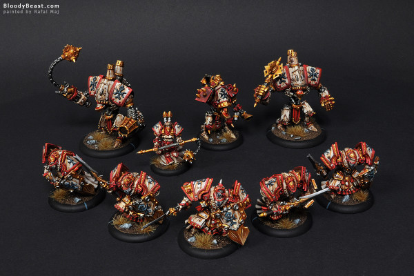 Protectorate of Menoth Army painted by Rafal Maj (BloodyBeast.com)