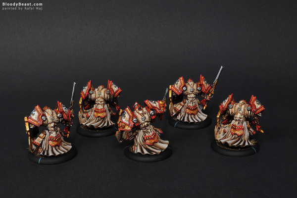 Protectorate of Menoth Exemplar Cinerators painted by Rafal Maj (BloodyBeast.com)