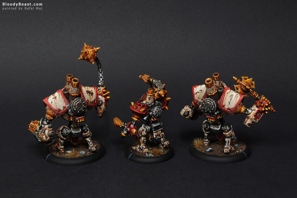 Protectorate of Menoth Warjacks painted by Rafal Maj (BloodyBeast.com)