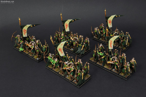 Wood Elves Glade Guards painted by Rafal Maj (BloodyBeast.com)