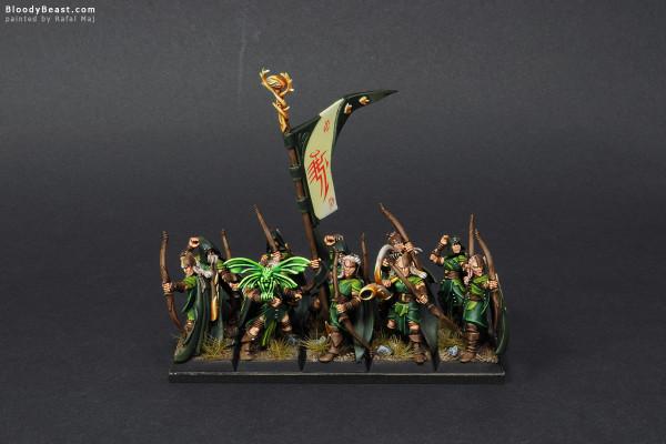 Wood Elves Glade Guard painted by Rafal Maj (BloodyBeast.com)