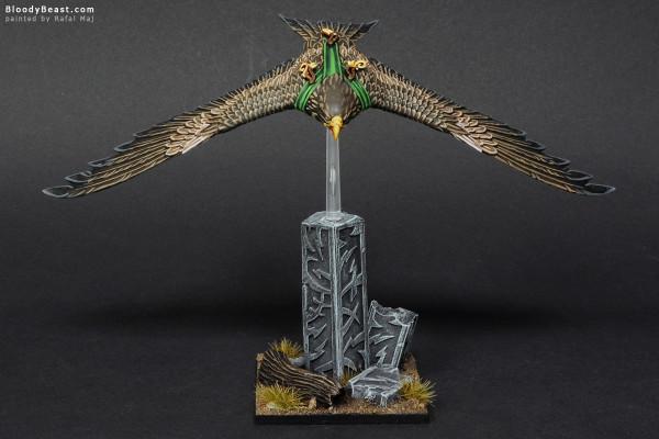 Wood Elves Great Eagle painted by Rafal Maj (BloodyBeast.com)