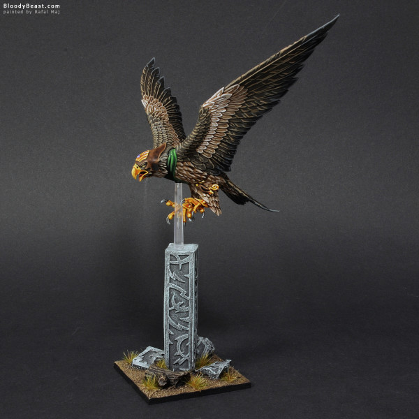 Wood Elves Great Eagle painted by Rafal Maj (BloodyBeast.com)