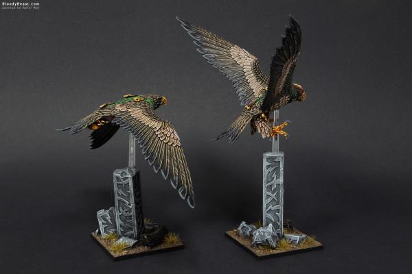 Wood Elves Great Eagles painted by Rafal Maj (BloodyBeast.com)