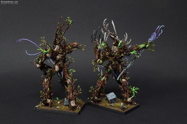 Wood Elves Treemen painted by Rafal Maj (BloodyBeast.com)