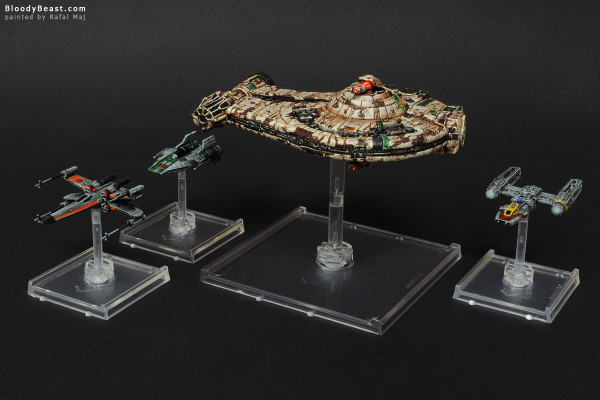 Star Wars Starships painted by Rafal Maj (BloodyBeast.com)
