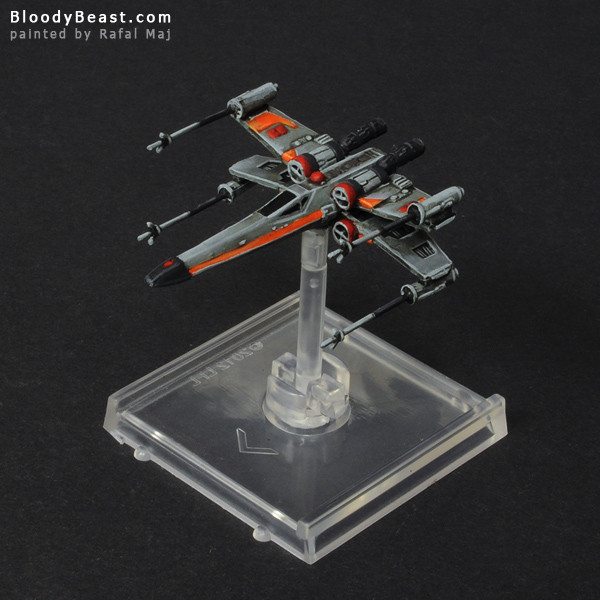 Star Wars X-Wing painted by Rafal Maj (BloodyBeast.com)